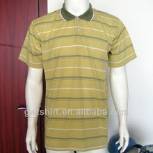 100% cotton striper polo t shirts for men