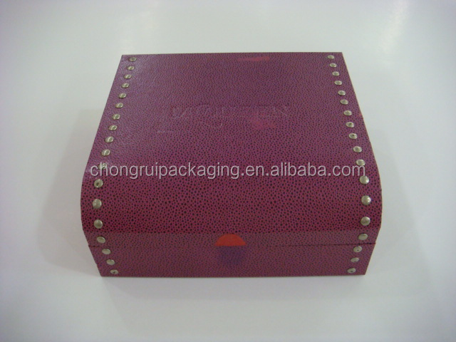 Hot stomp revit box cover with pu leather