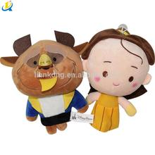 Wholesale factory hot stuffed Plush soft action figure Movie Characters Beauty and the Beast Princess Bella Dolls plush toys