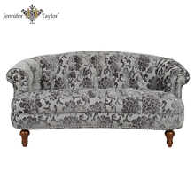 Antique design one piece MOQ tufted back nailhead trim rose pattern small chesterfeild sofa