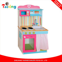 Wholesale customized good quality pretend play wooden kitchen sets toy