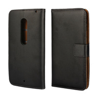 For Motorola Moto X Play Leather Wallet Flip Stand Back Case