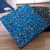 QU Colored EPDM surface color series of gym and safety rubber mat office beautify rubber mat