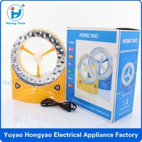 32 LED emergency light with fan led rechargeable emergency light / rechargeable fan and led light / mini table led fan CE
