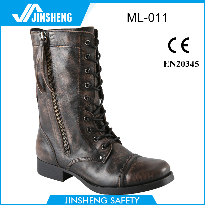 Crazy Horse Leather Military Boots Combat Boots Police Shoes Safety Shoes