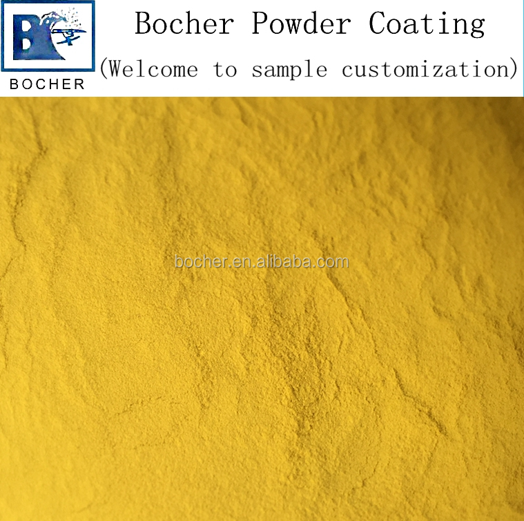 high quality high gloss electrostatic epoxy polyester spray powder coating of yellow color