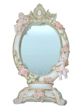 European style oval polyresin free standing mirror
