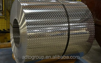 Roll of Diamond Pattern Embossed Aluminum Sheet, Aluminum Roll