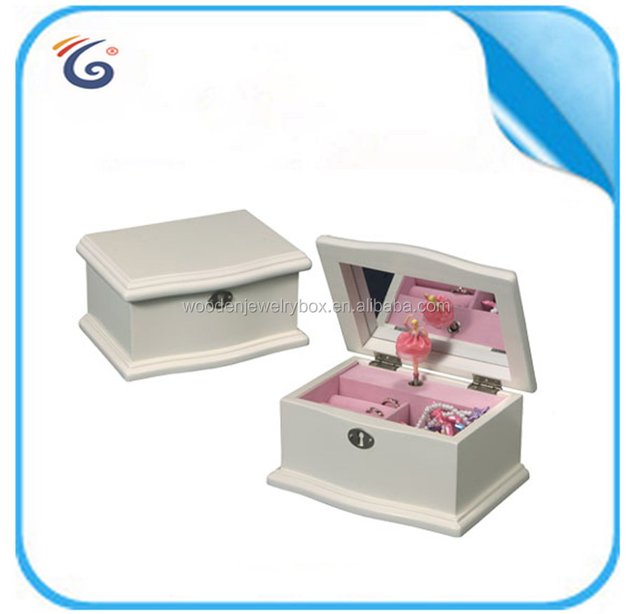 New design dance ballerina musical jewellery box show pieces for home decoration