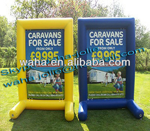 Airtight advertising inflatable billboard