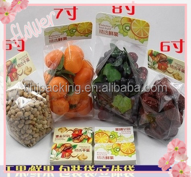 Promotion customizable reusable plastic bag with holes of fresh fruit and vegetables