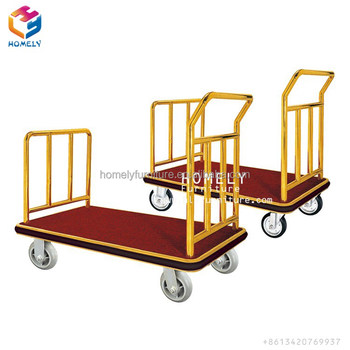 high quality luggage cart hotel trolley