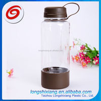 2015 custom printing foldable plastic water bottles,plastic sport water bottle flip top cap,silicone band bottle