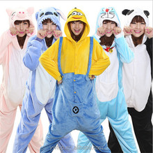 Soft Flannel Pajamas romper Adult Full-body Hooded Animal Pajamas Onesie