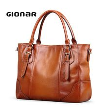 Newest Animal Skin Brown Genuine Leather Bags Tote Handbag Wholesale China