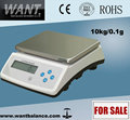10kg 1g Bench Scale Type WEIGHING SCALE 250*190mm square pan