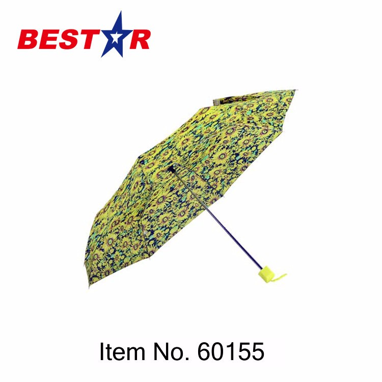 Hot Sale ODM Available 3 Folding Umbrella