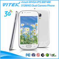 Alibaba China 4 inch IPS Panel Android 3G WCDMA GSM Dual SIM Smart Phone