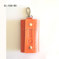 Men and Women's Unisex Genuine Leather Car Key Bag Keychain Case Holder