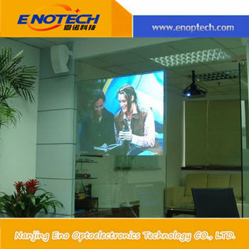 Projection film screen for mobile advertising