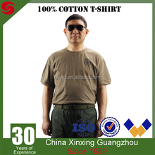 Breathable 100% Cotton Polyester Khaki T-shirt Military Army Tactical combat shirt