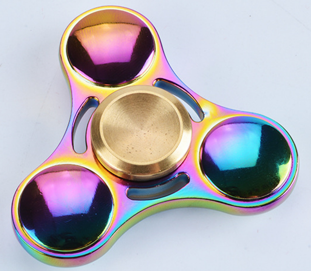 Lighting Up Big Metal Fidget Spinner, LED Hand Spinner Toys, LED Flying Toy