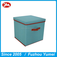 Wholesale Foldable Polyester fabric kid toys storage box with lid
