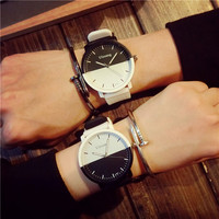 2016 wrist watch made in China wholesale couples write and black
