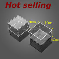 high quality square thickening jelly/dessert/pudding/mousse cup 70*42H