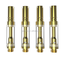 Glass tank co2 oil vape cartridge 510 ceramic coil cbd vaporizer pen 0.5ml glass tube cbd vape atomizer