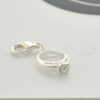 C308 Charm Pendant Dangles with Crystal For Living Floating Lockets Fashion Jewelry