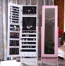Chinese floor mirror jewelry display cabinet