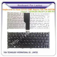 wholesale new keyboard for Acer Aspire one S3-391 keyboard built in