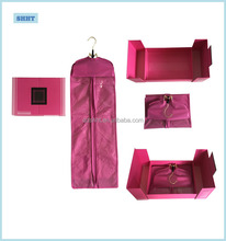hot sale custom hair extension box and bag and hanger matched