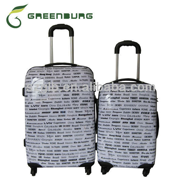Waterproof PC printing Trolley Case