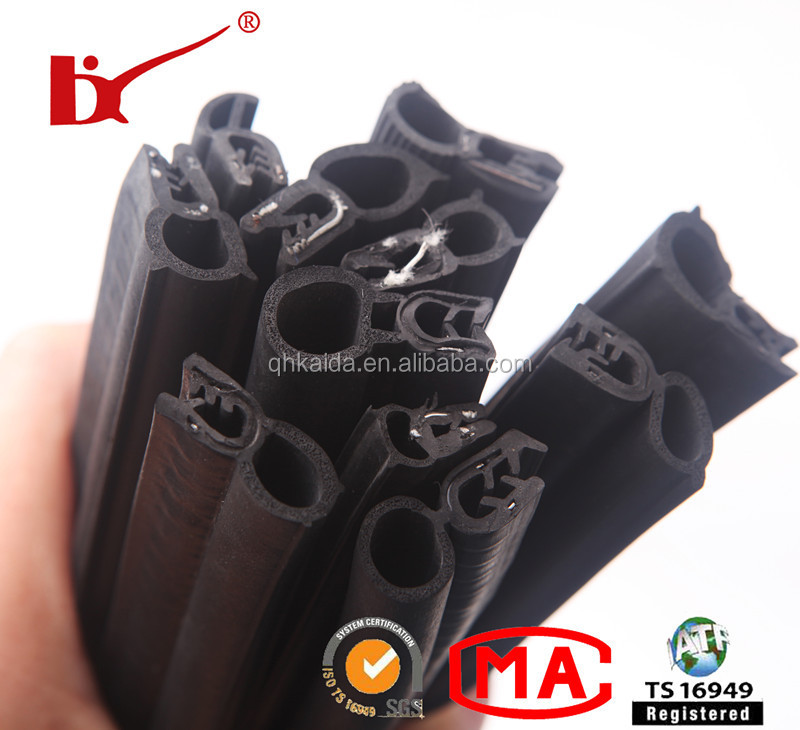recycled black epdm weather strip rubber