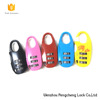 2017 New design authorised professional colorful safe zipper lock 3 digits zinc alloy tsa locks