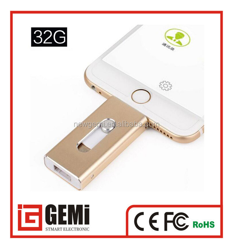 New products wholesale custom 1128gb otg usb drive flash for iphone 7