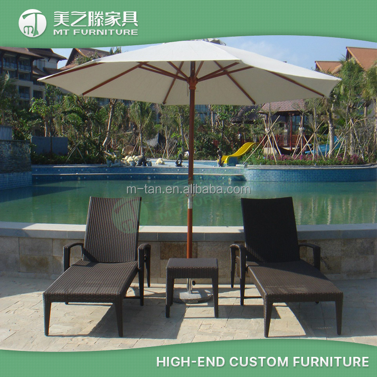 Renaissance Sanya Resort & Spa Supplier All Weather UV Resistant Outdoor Rattan Wicker Sun Chaise Lounger