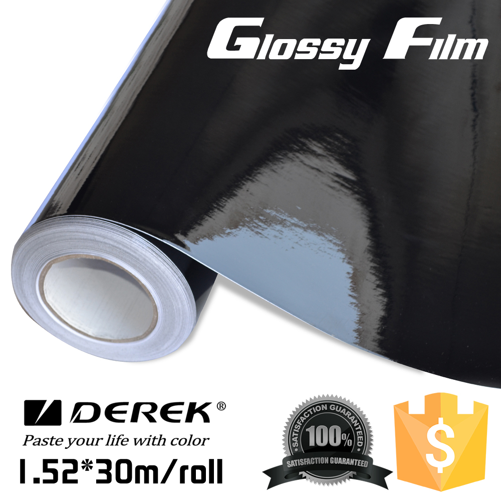 hot sale Car wrap paper/ Car body sticker/ Glossy Black Film vinyl