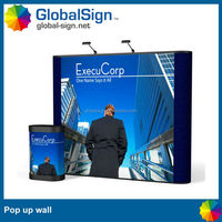 advertising magnetic curved pop up wall