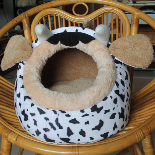 New Fashion cow designs cotton puppy cute bed pet dog house lovely bed for cats dogs puppy comfortable home