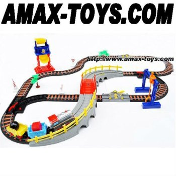 ect-02109 electric track train children track train assembling track train children toys