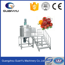 sanitary stainless steel vacuum homogenizing ketchup process equipment,ketchup emulsifying mixing tank