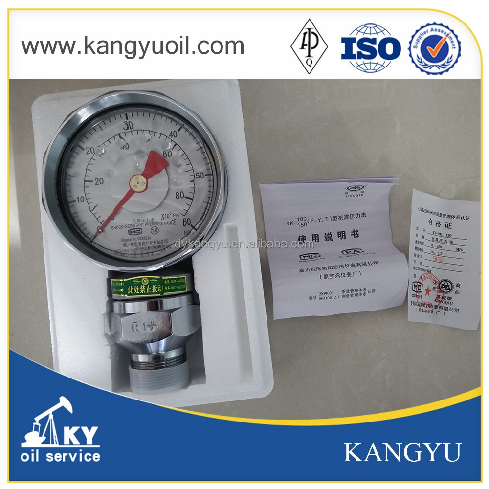 Mud Pump YK150 Pressure Gauge