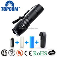 Ultra bright E26 Aluminum 26650/18650/3*AAA Battery Military 1200 Lumen Best Tactical Flashlight Rechargeable