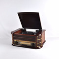 Antique Wooden Turntable Record Player with CD MP3 Radio Player