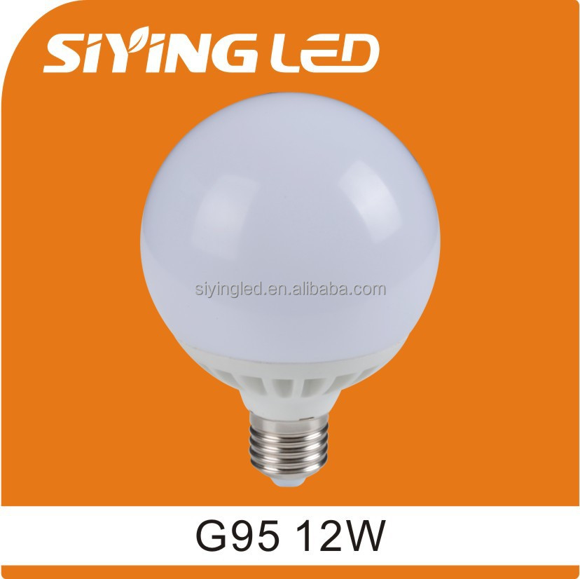 led golf ball bulb 12W G95 led globe bulb e27