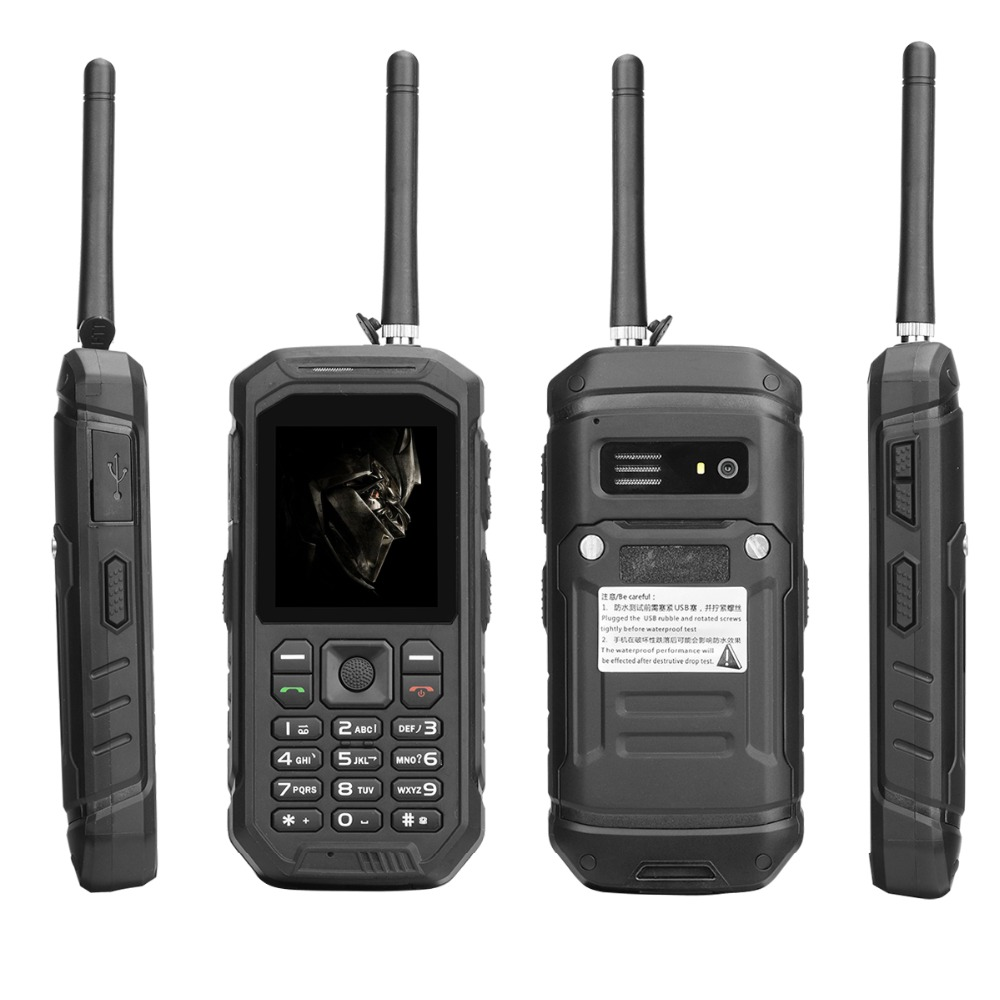 IP68 Waterproof GSM Rugged Cell <strong>Phone</strong> With UHF Walkie Talkie Function