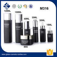 New Fashion Luxury Glass Recycled Cosmetic Packaging 100ml 120ml Serum Bottle with Pump/Dropper